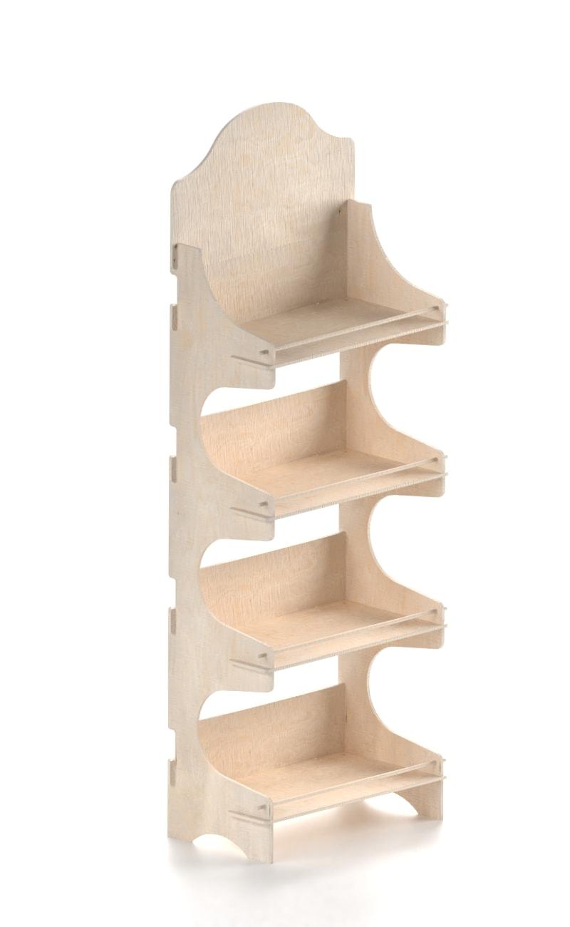 espositore promozionale in legno