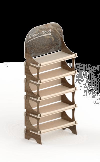 espositore da terra ad incastro eurosud srl cataldi legno betulla - Floor wooden interlocking display