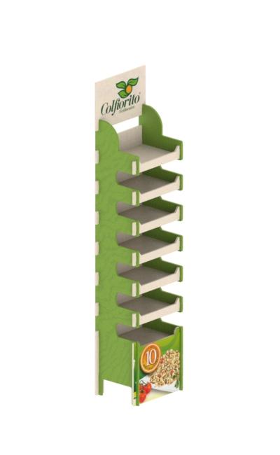 espositore da terra ad incastro eurosud srl cataldi legno betulla - espositore in legno - wooden floor display stand