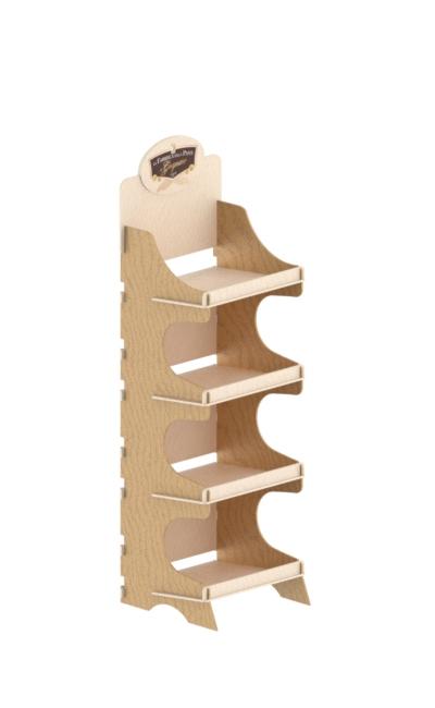 wooden floor display stand - wooden interlocking display stand in birch