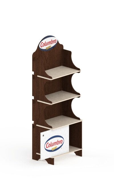 wooden floor display stand - wooden interlocking display stand in birch