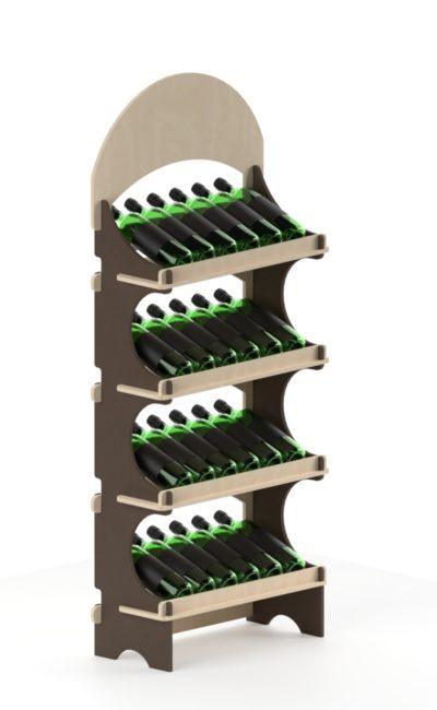 espositore di vini promozionale in legno