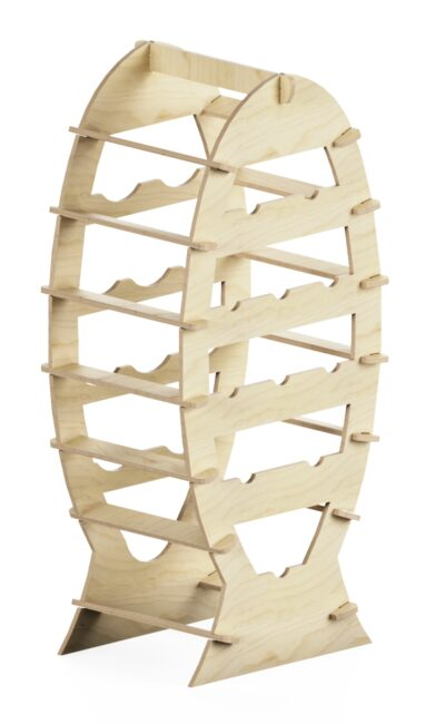 wooden promotional rack at interlocking