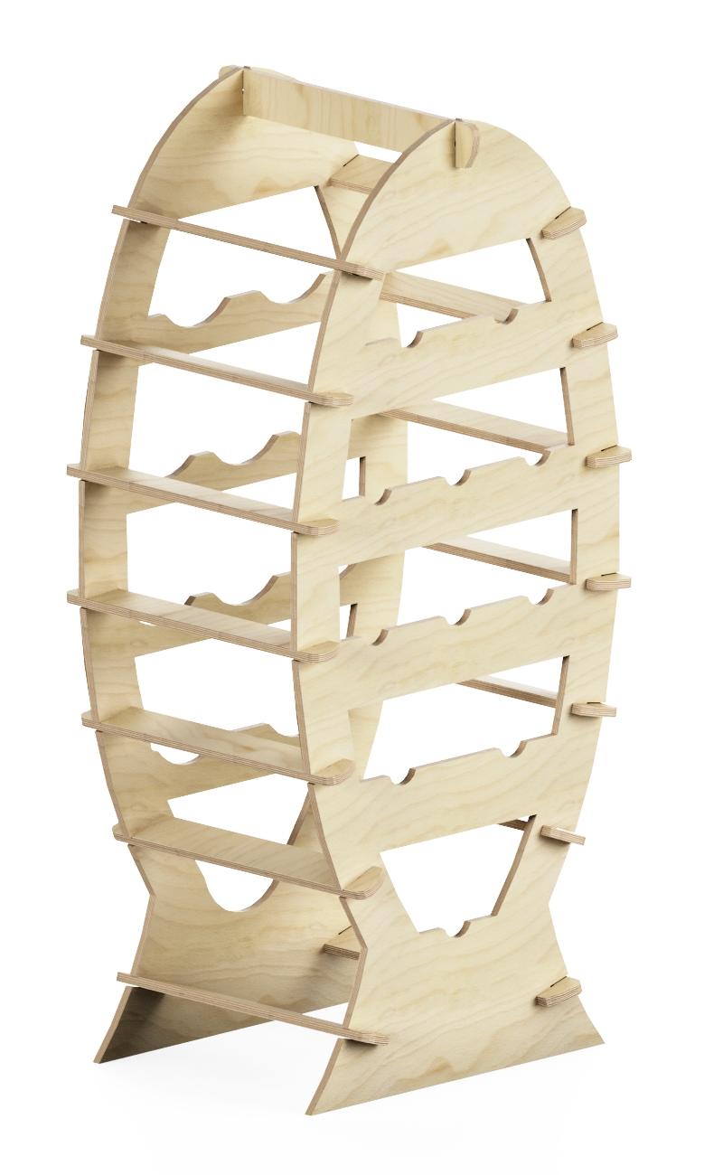 wooden promotional rack at interlocking