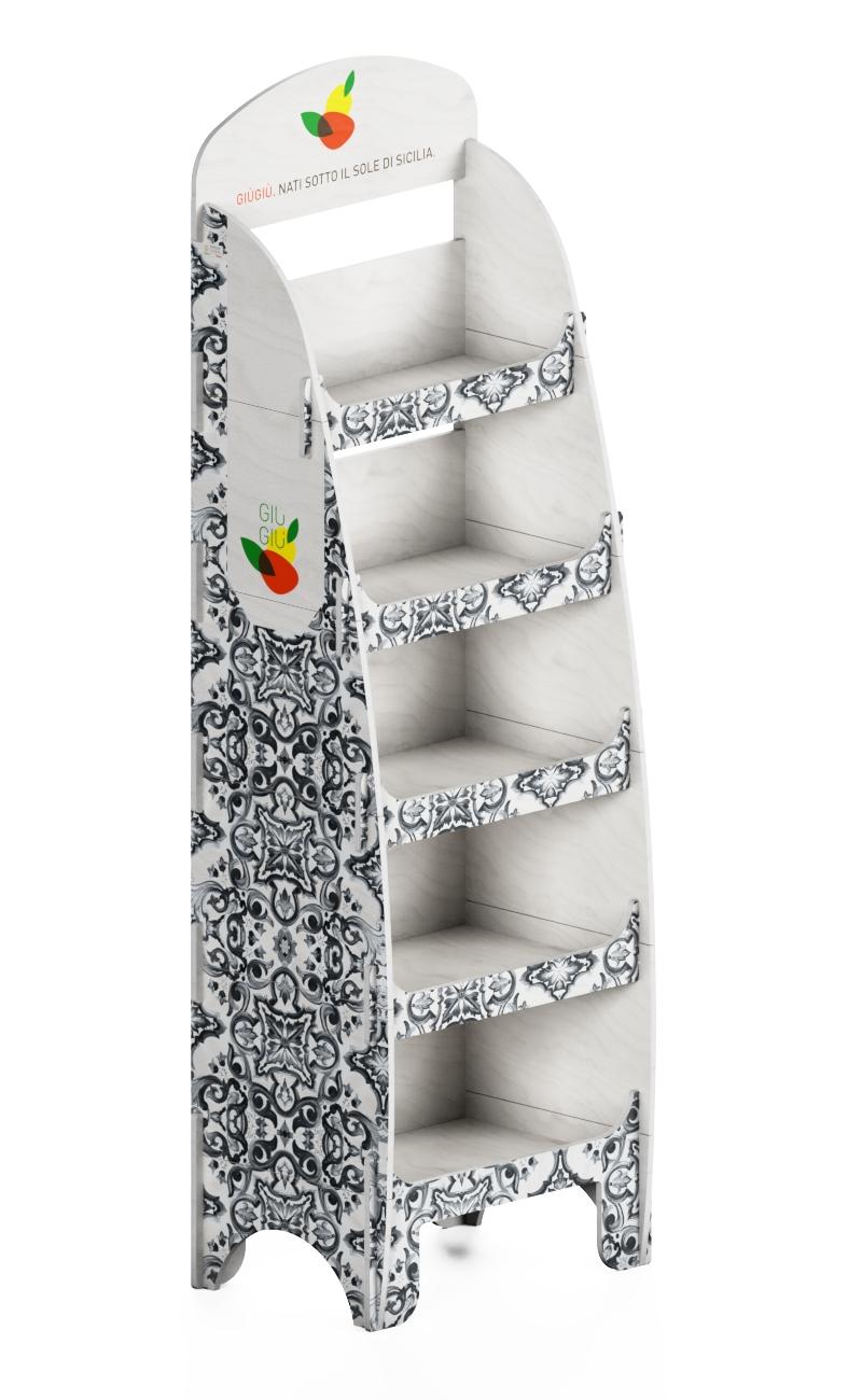"""e184 - wooden interlocking stand personalized """"prezzemolo e vitale"""""""