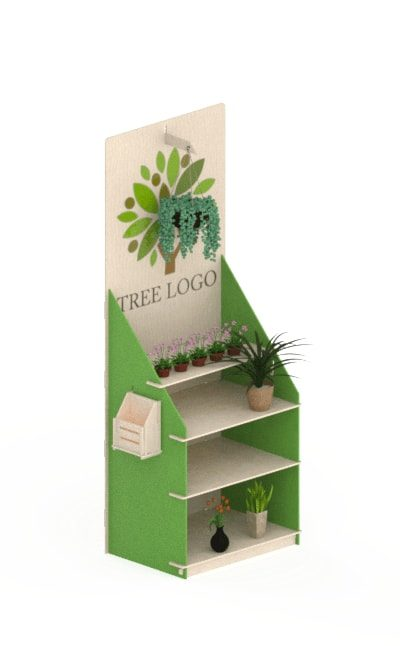 wooden floor display stand - wooden interlocking display stand in birch for plants