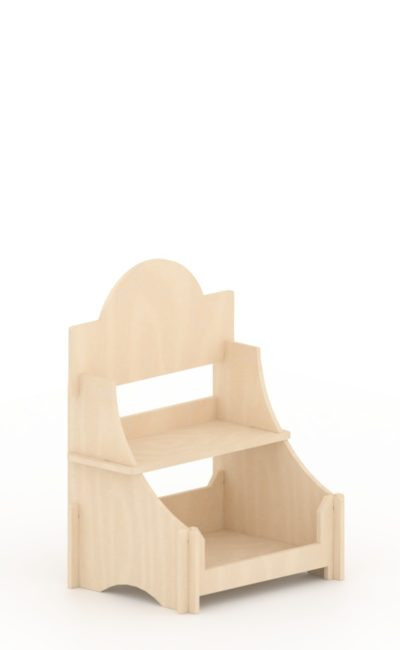 scaffale in legno ad incastro