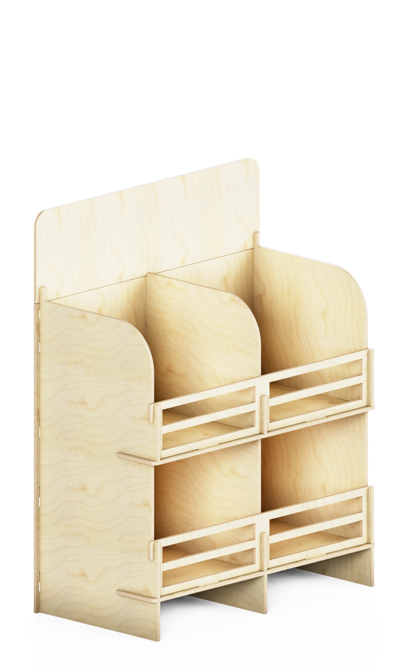 wooden interlocking display