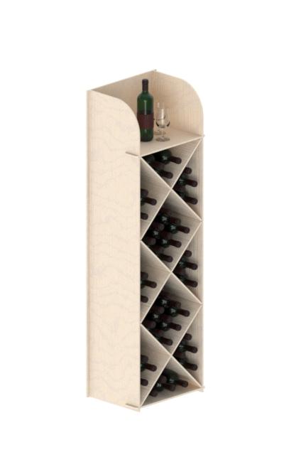 espositori in legno ad incastro - wooden interlocking display stand - wood displays - cantinetta in legno ad incastro