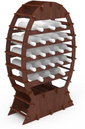 Cantinetta in legno / scaffale per vino ad incastro