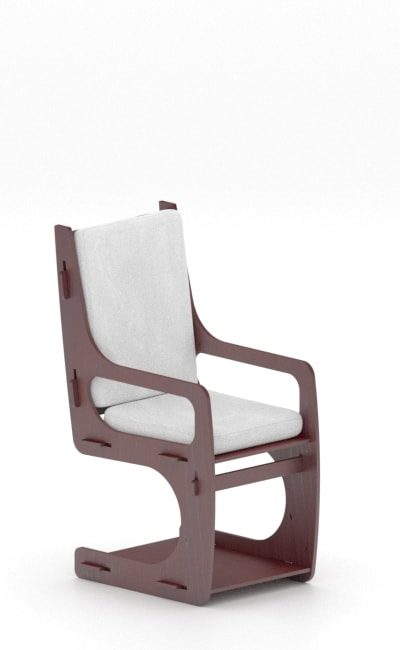 wooden interlocking armchair