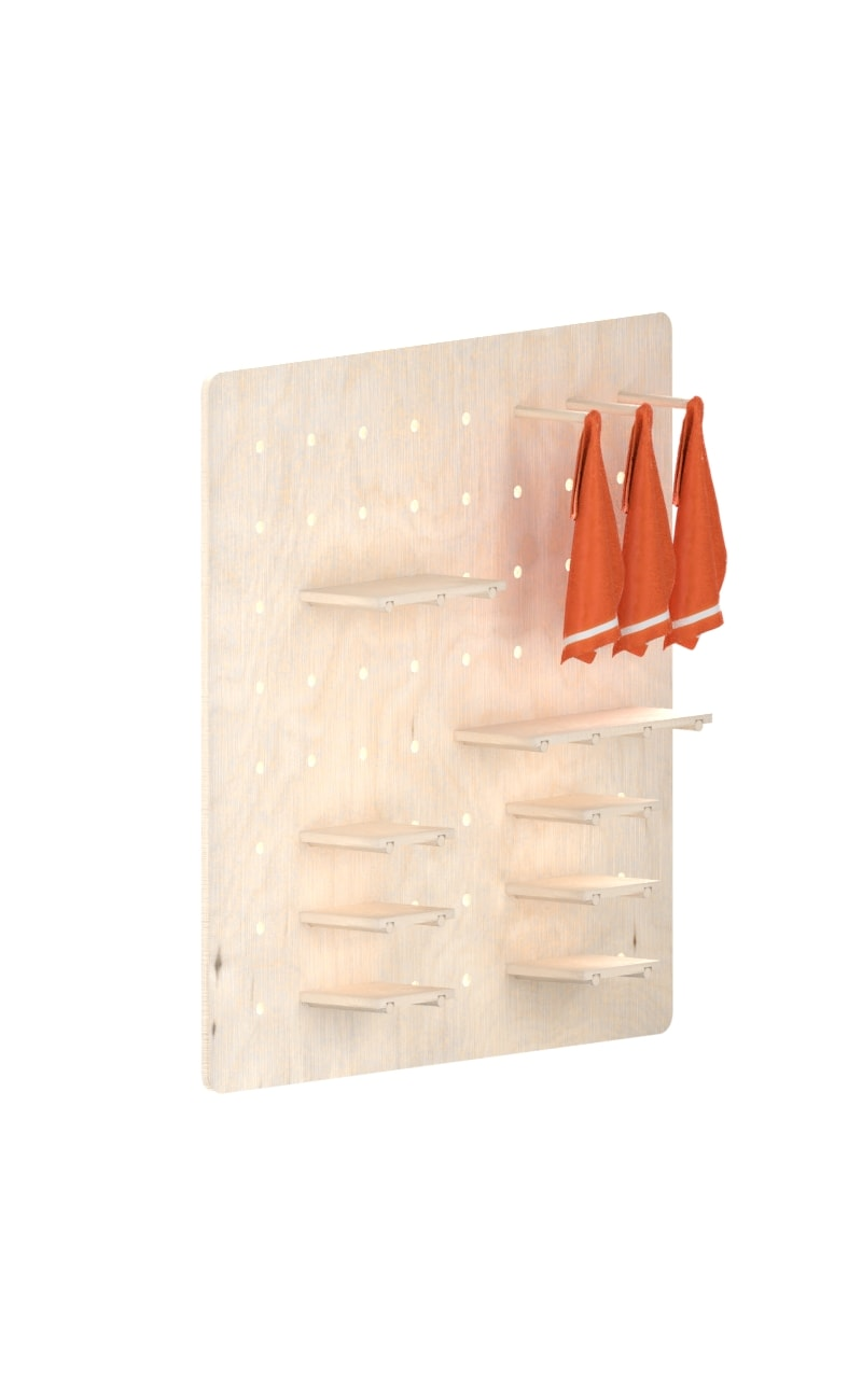 Interlocking Wall System : Simple and cheap wall bookcase made of wood interlocking
