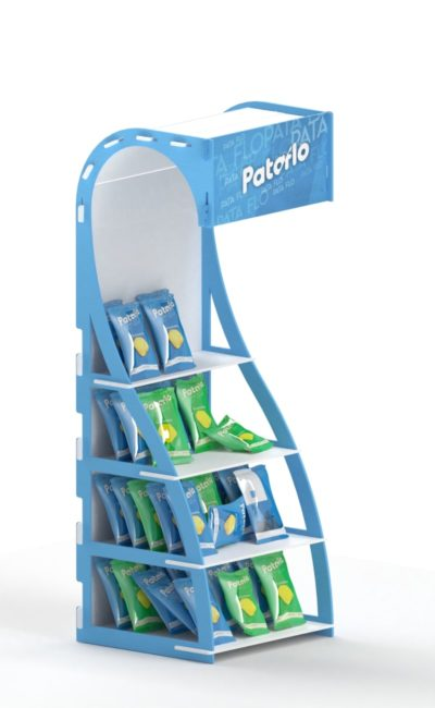 Promotional interlocking stand display
