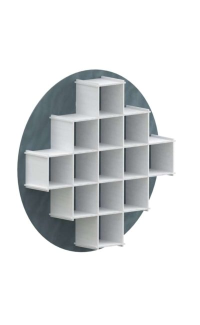 interlocking skyblue/white bookcase