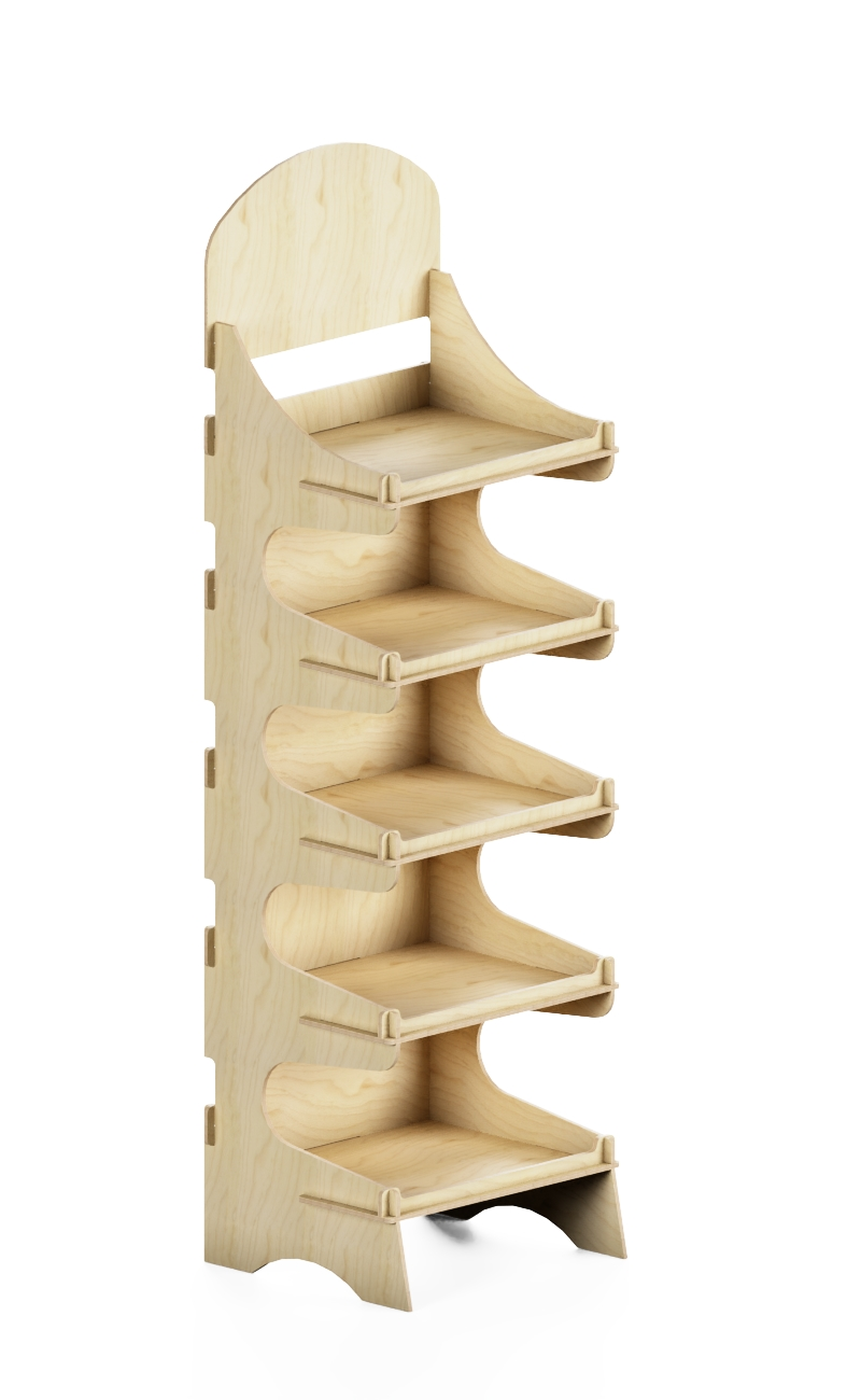 wooden stand exhibitor at interlocling system.