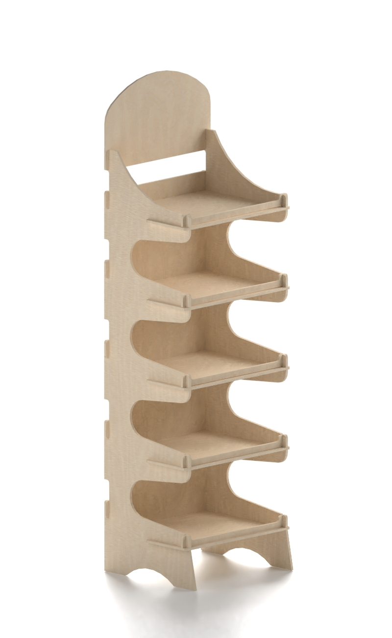 wooden stand exhibitor on sale
