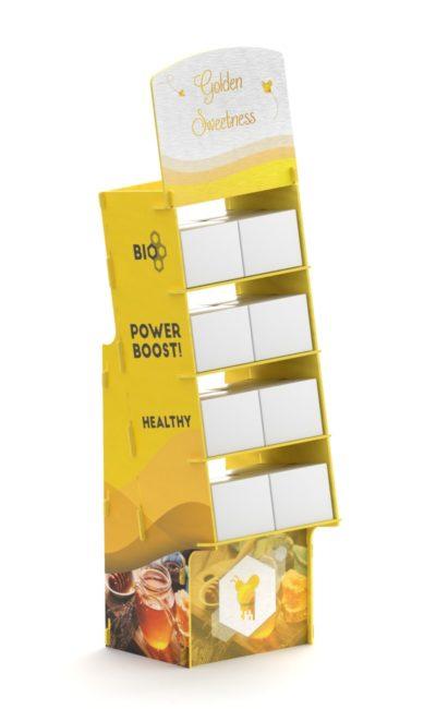 Mobile da interno per negozi ad incastro giallo