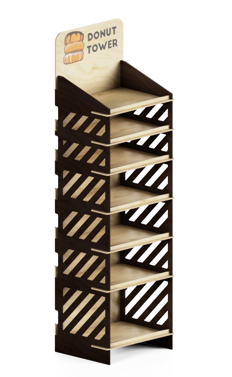 mobile marrone e lengo naturale con stampa logo