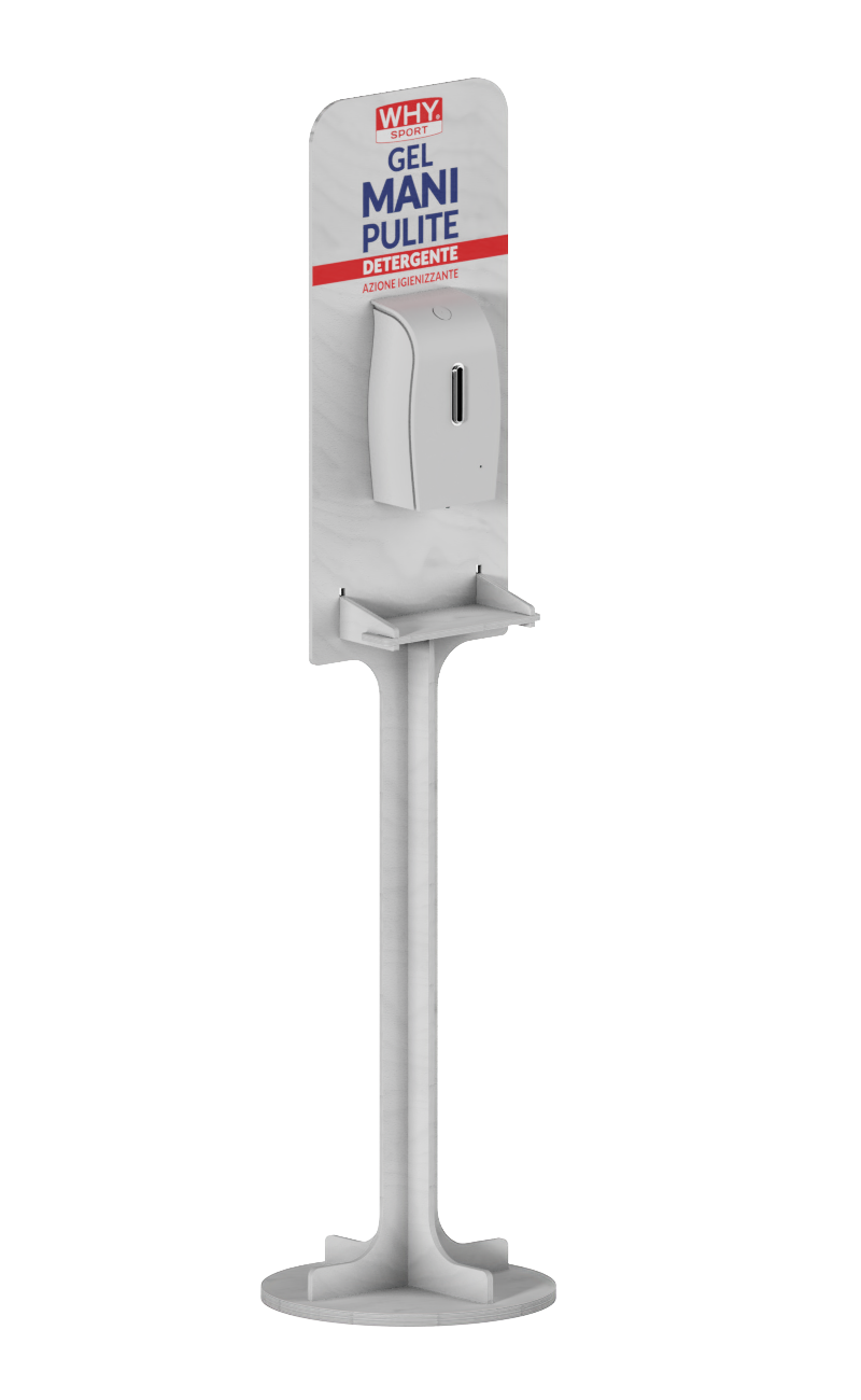 e278 - stand display for automatic disinfectant