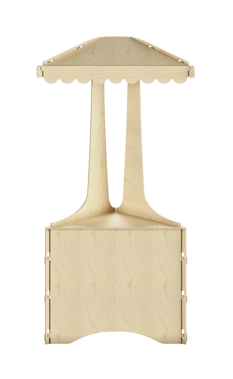Angolare con tetto spiovente in legno
